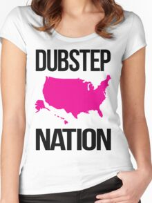Dubstep Nation  Women's Fitted Scoop T-Shirt