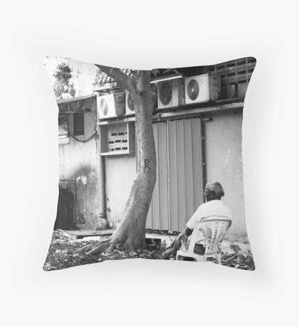 Sitting Alone - Peter Jackson Throw Pillow