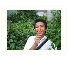 Flower Boy - Sam Tun Art Print