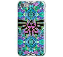 Hylian Royal Crest - Legend Of Zelda - Pattern Blue iPhone Case/Skin