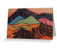 Cratered Landscape Greeting Card