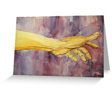 reaching for nothing Greeting Card