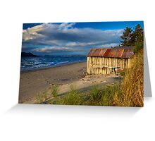 Ye old boatshed - Bruny Island, Tasmania Greeting Card