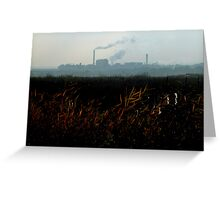 Nature v. Industry #2 Greeting Card