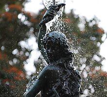 Water Fountain Lady by Ann Barnes