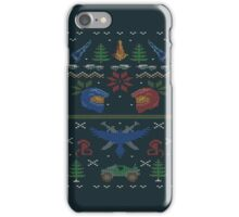 Ugly Red vs Blue Christmas Sweater iPhone Case/Skin