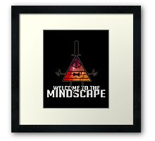 Welcome to The Mindscape -Burning Framed Print