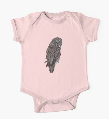 Magnificent Great Grey Owl One Piece - Short Sleeve