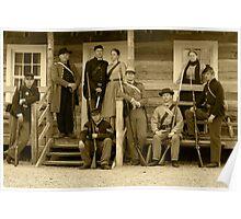 Civil War Re-Enactment Group Poster