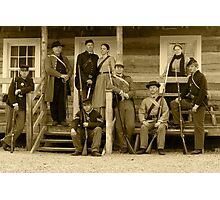 Civil War Re-Enactment Group Photographic Print