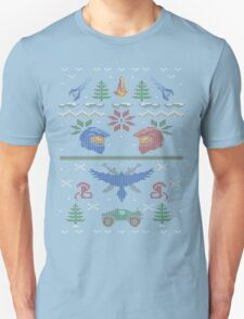 Ugly Red vs Blue Christmas Sweater Unisex T-Shirt