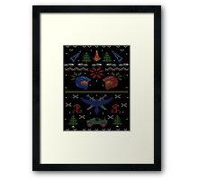 Ugly Red vs Blue Christmas Sweater Framed Print