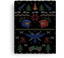 Ugly Red vs Blue Christmas Sweater Canvas Print