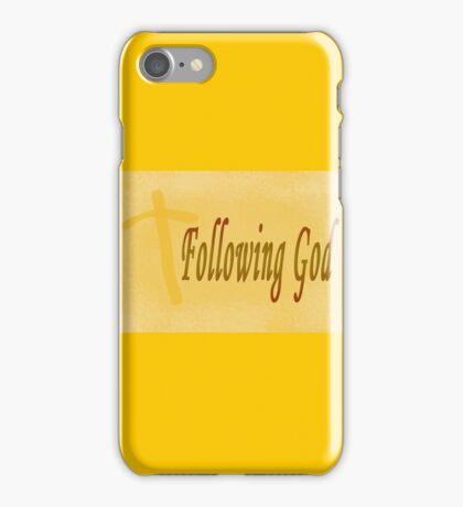 Following God iPhone Case/Skin