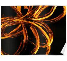 Fire Dancer Swirls Poster