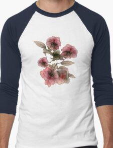 Miniature Roses Men's Baseball ¾ T-Shirt