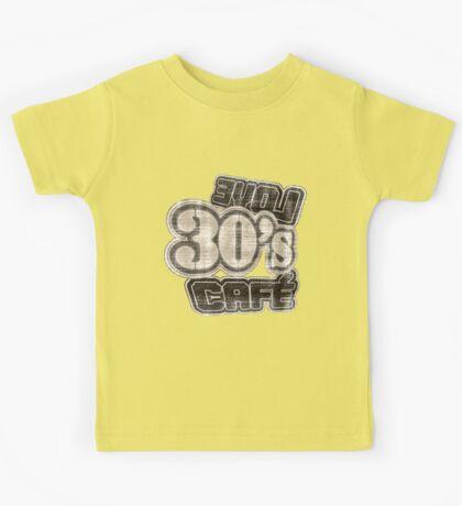 Love 30's Cafe Vintage T-Shirt Kids Tee