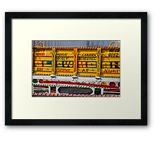 Traffic Reading Framed Print