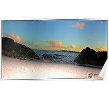 Beach at dusk! Poster