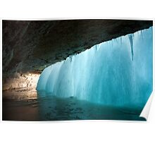 Frozen Waterfall Poster
