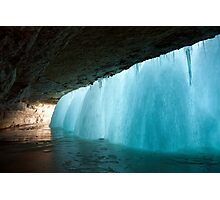 Frozen Waterfall Photographic Print