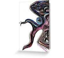 Gorgona Drawing Greeting Card