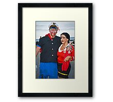Popeye and Olive Oil Zombies Framed Print
