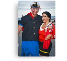 Popeye and Olive Oil Zombies Canvas Print