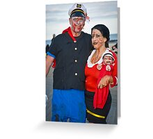 Popeye and Olive Oil Zombies Greeting Card