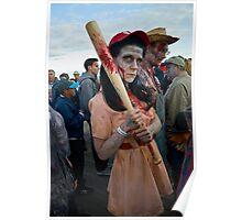 Woman's Baseball Zombie Poster