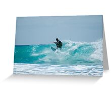 Surfing at Snapper Greeting Card