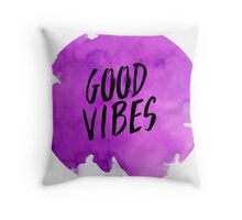 Good Vibes Watercolor Throw Pillow