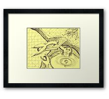 caught in the web of life Framed Print