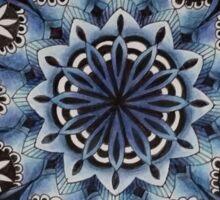 Blue lace mandala Sticker