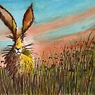 Hare in the Meadow by Chris-Cox