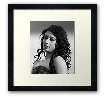 Monalisa in Monochrome. Framed Print
