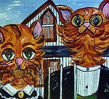 American Gothic Cats - A Parody by EloiseArt