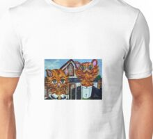 American Gothic Cats - A Parody Unisex T-Shirt