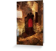 Confessional. Greeting Card