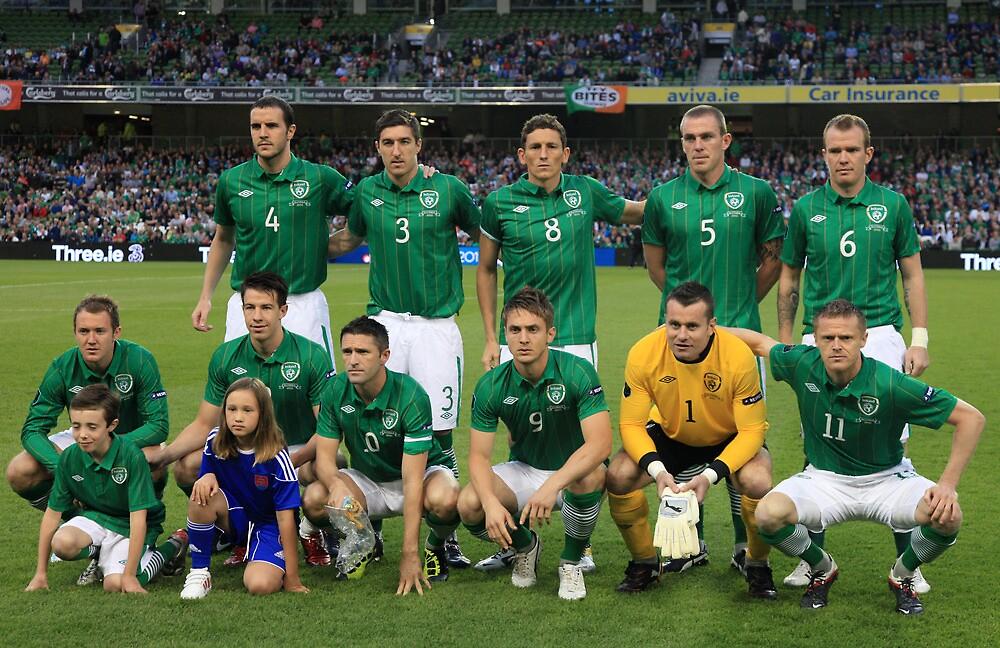 Rep of Ireland football team by Billy Galligan