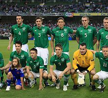 Rep of Ireland football team by Billy Galligan