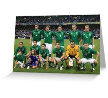 Rep of Ireland football team Greeting Card