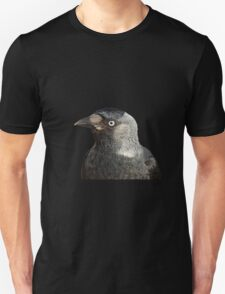 Jackdaw (Corvus monedula) Bird Portrait Vector T-Shirt