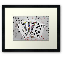 Playing Cards - Royal Flush Framed Print