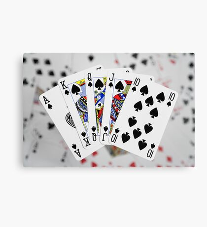 Playing Cards - Royal Flush Canvas Print