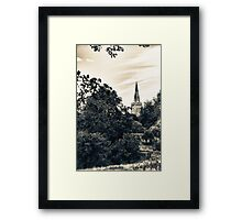 Country Church (vintage style)  Framed Print