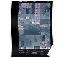 USGS Topo Map Washington State WA Roxboro 20110404 TM Inverted Poster