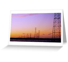 Right out My Backdoor Series ~ High Wire Sunset Greeting Card