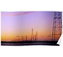 Right out My Backdoor Series ~ High Wire Sunset Poster