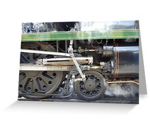 Steamy Wheels Greeting Card